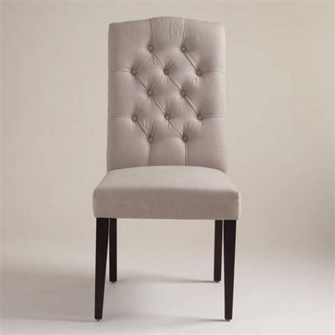 tufted dining chairs grey and tables on