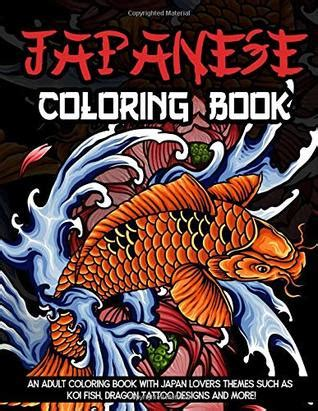 japanese coloring book  adult coloring book  japan
