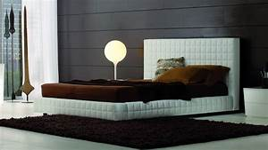 Awesome Modern White Leather Tufted Headboard King Design ...
