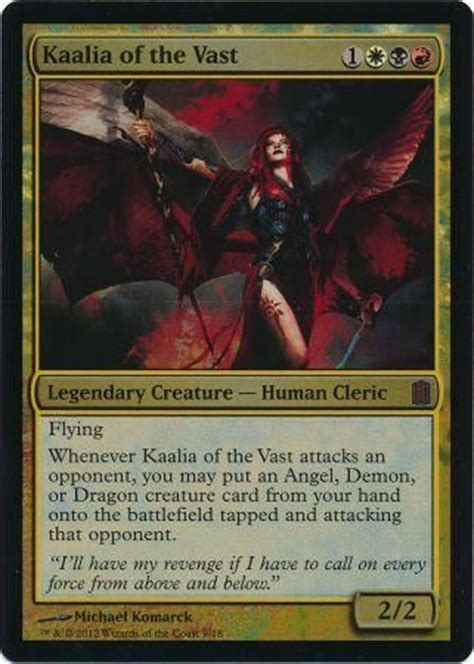 kaalia of the vast commander deck kaalia of the vast foil commander s arsenal singles