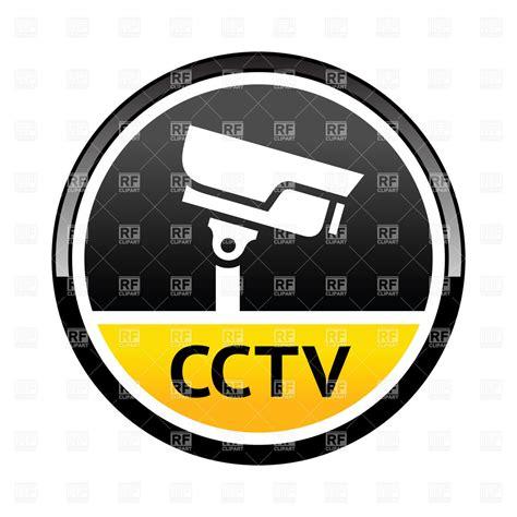 cctv sticker security alarm surveillance vector of signs symbols maps