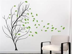 Baum Für Wohnzimmer : wandtattoo baum mit bl ttern im wind wandtattoo de ~ Michelbontemps.com Haus und Dekorationen