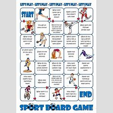 Sport Board Game Worksheet  Free Esl Printable Worksheets Made By Teachers  Board Games Summer