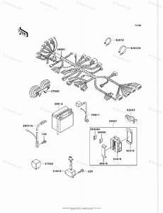 Kawasaki Motorcycle 2005 Oem Parts Diagram For Chassis