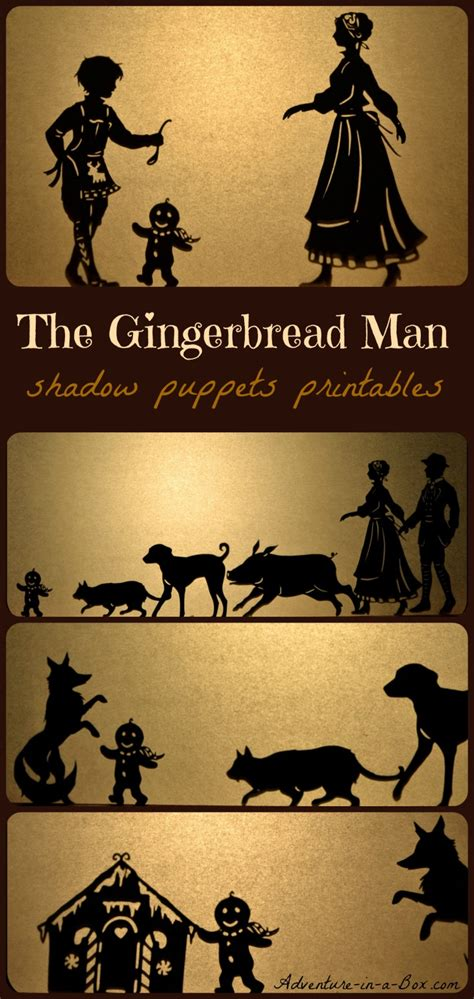 how to make shadow puppets for the gingerbread