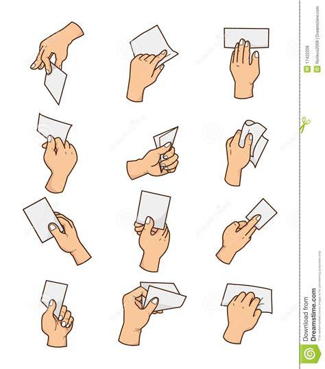 cartoon hand card stock vector image  icon hand human