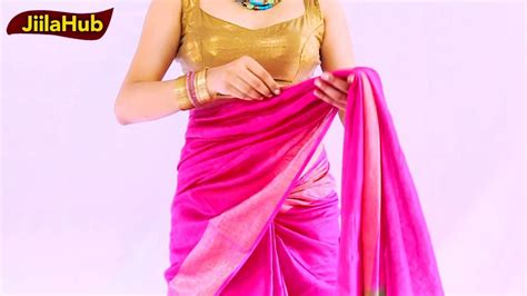 How To Drape Saree Perfectly - how to wear kosa silk saree perfectly fast simple way to