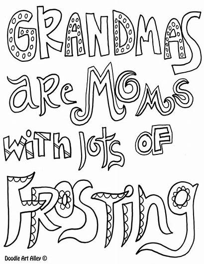 Coloring Grandma Pages Mothers Mother Birthday Printable