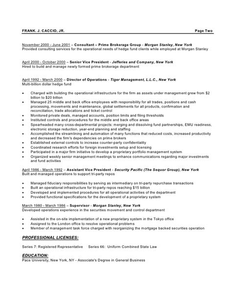 Hedge Fund Resume by Fjc Resume 7 10