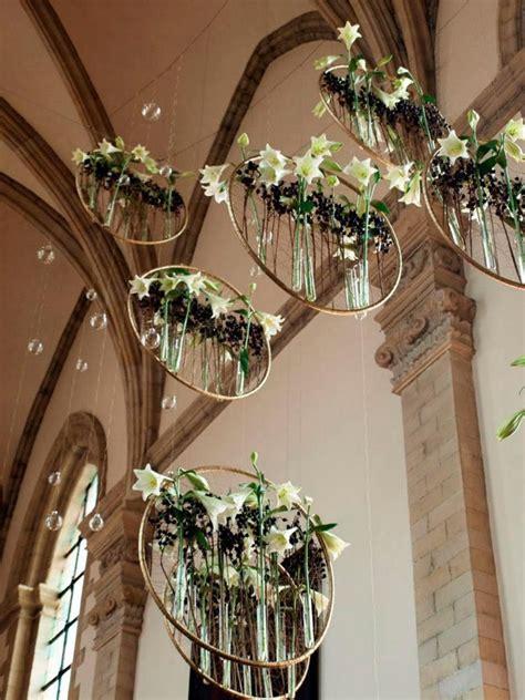 hanging wedding florals church wedding decorations