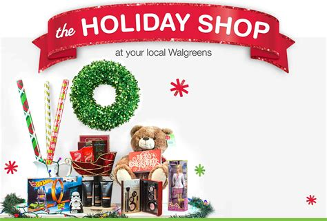 holiday shop  store walgreens