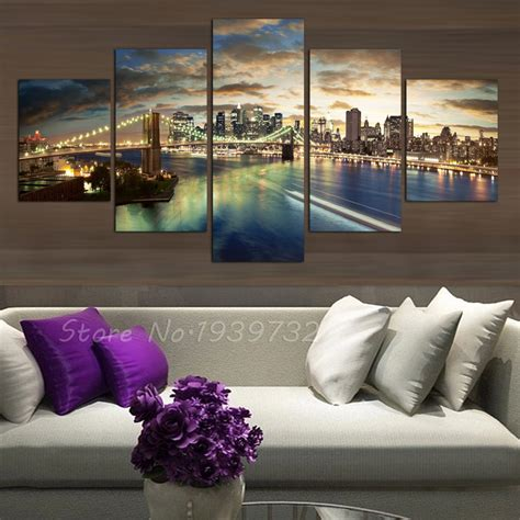 Free Shopping 5 Panels High Quality Home Decor Wall Art