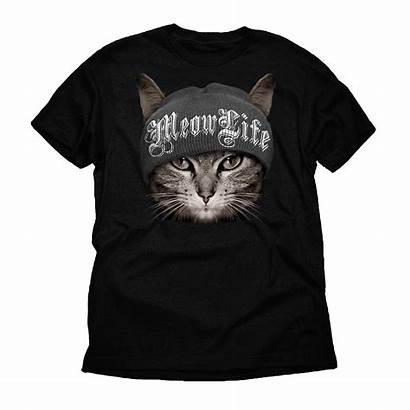Thug Funny Cat Meow Shirts Short Walmart