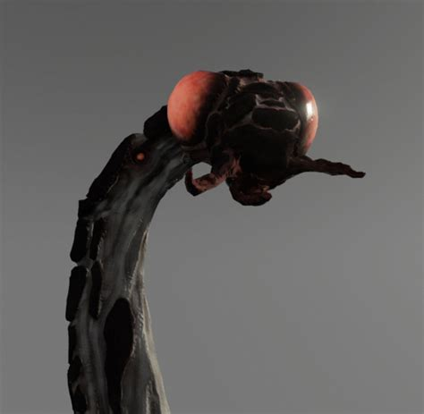 space worm  model game ready animated rigged obj ds