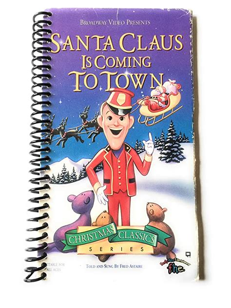 amazoncom santa claus  coming  town vhs notebook