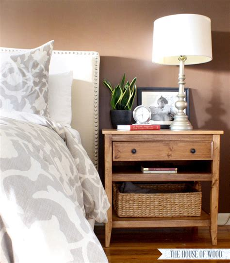 bedroom side tables diy bedside table with drawer and shelf free plans