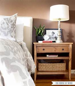 Diy, Bedside, Table, With, Drawer, And, Shelf