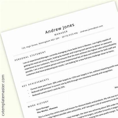 Cv Template Manager Professional Word Statement Templates