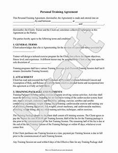 13 best personal trainers forms images on pinterest With personal services agreement template