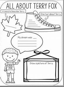 Terry Fox Run Coloring page | French | Fox coloring page ...