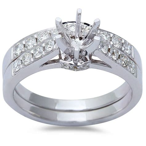 70ct 14kt white gold cathedral style wedding engagement ring ebay