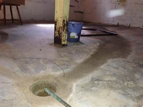 floor drain yes sump no