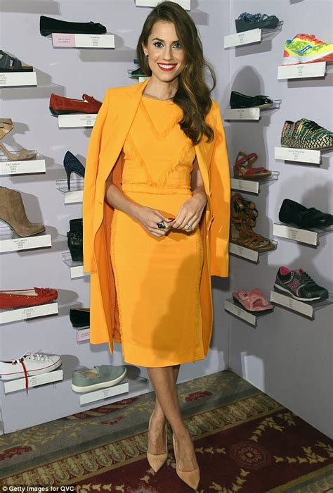 wedding dress sale allison williams looks chic and in mustard dress at qvc gala in nyc daily mail