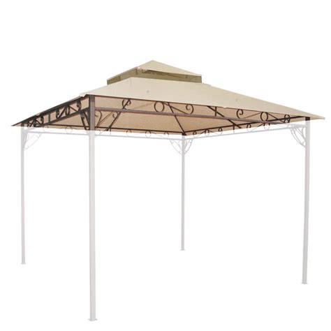 10 x10 waterproof gazebo top 2 tier replacement uv30