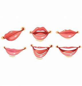 Sexy woman smile lips vector on VectorStock | Character ...