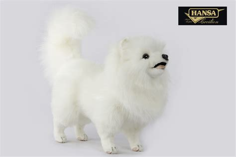 7324 - POMERANIAN DOG WHITE 49CML | Hansa Creation Inc.
