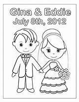 Coloring Wedding Pages Children Popular sketch template