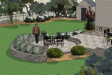 patio landscape design beautiful 3d landscape designs in nj