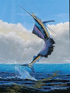 Sailfish Dance Off0054 Painting by Carey Chen