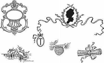 Clipart Victorian Letter Decorative Silhouette Cameo Vector