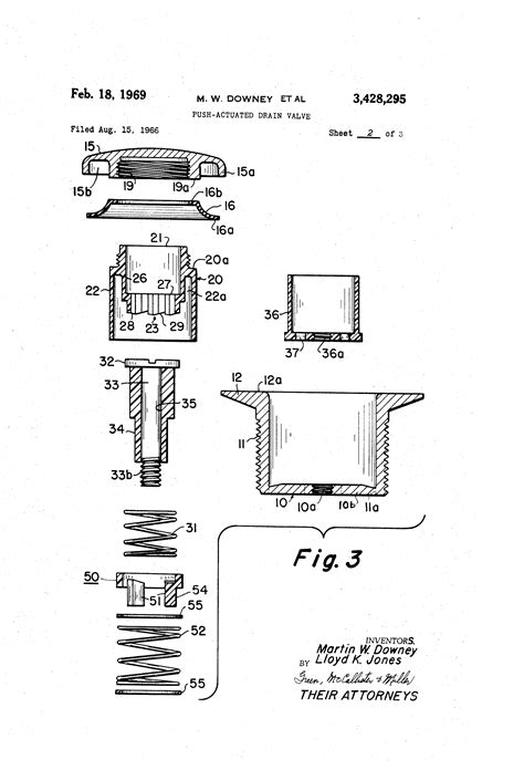 pop up drain stopper assembly patent us3428295 push actuated drain valve patents