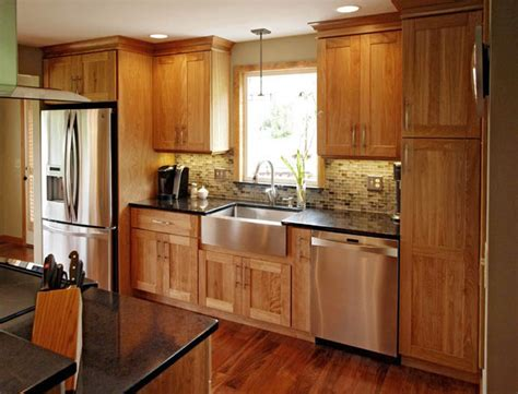 shaker crown molding pink birch alder cabinets with birch contemporary kitchen burlington