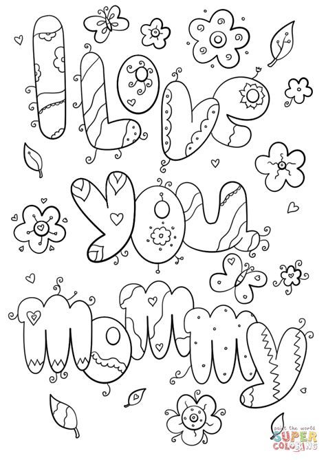 love  mommy coloring page  printable coloring