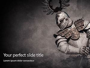 Medieval Armor Presentation Template For Powerpoint And