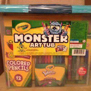 Crayola Monster Art Tub Crayons Colored Pencils