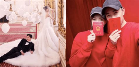 tang yan  luo jin announce theyre married wedding