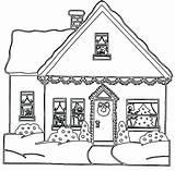 Coloring Printable Haus Maison Drawing Houses Gingerbread Coloriage Malvorlagen Colouring Imprimer Pain Ausmalbilder Colorare Clipart Natale Gratuit Sheets Colorier Zum sketch template