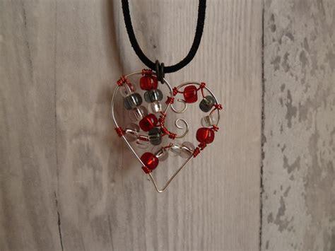 precious beaded heart wire pendant allfreejewelrymakingcom