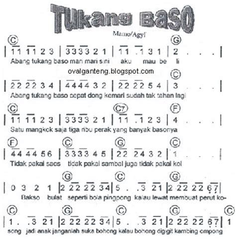 not pianika ar ar pisang not angka lagu daerah nusantara toegas sang maestro