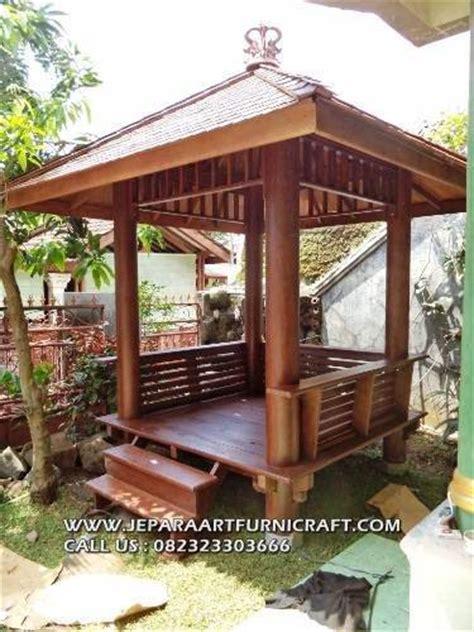 seller gazebo minimalis modern kayu kelapa harga murah