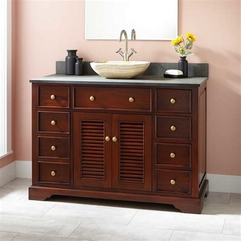 48 quot westerfield mahogany vessel sink vanity traditional