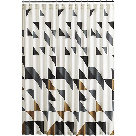 grey geometric pattern curtains triangle black and white shower curtain