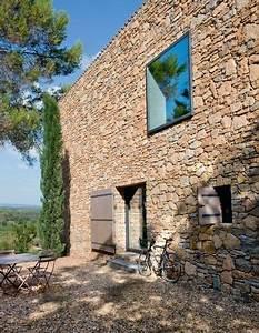 provence une maison neuve taillee en pierres seches With extension maison en l 17 mur en pierre sache de pierres et de bois