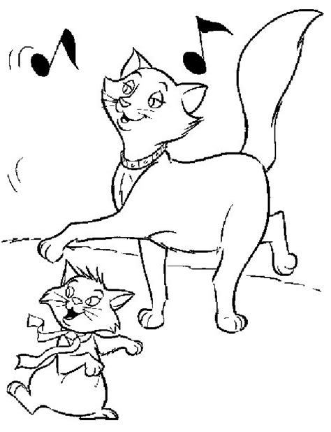 Kleurplaat Aristocats by Aristocats Coloring Page Coloring Home
