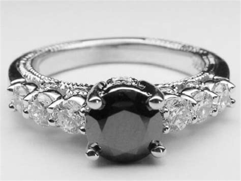 what is a black is black real engagement rings