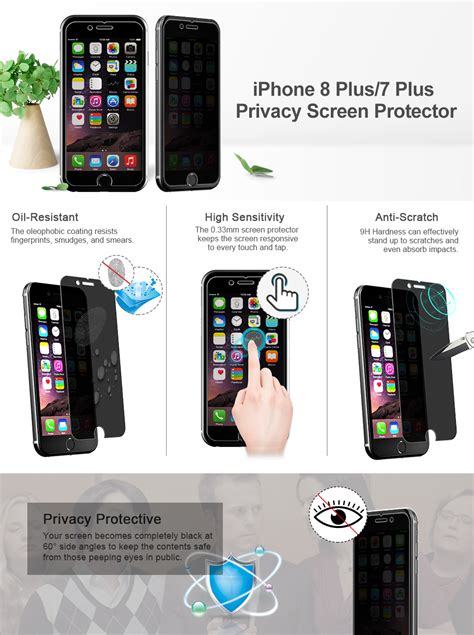 jetech privacy screen protector  iphone